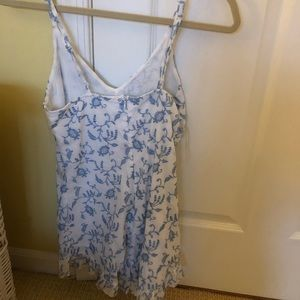 Kendall & Kylie Dresses - Blue and white laced romper